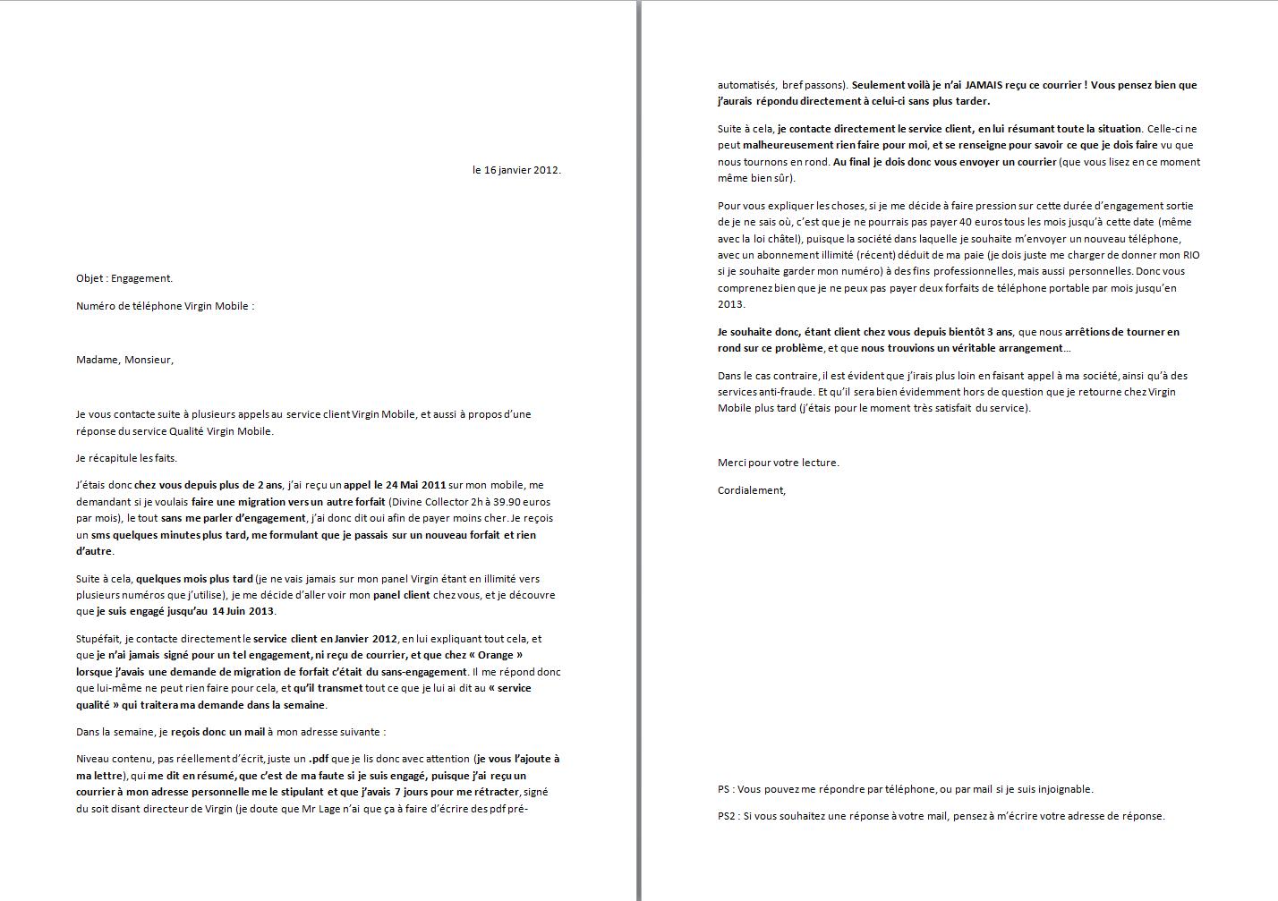 lettre de reengagement