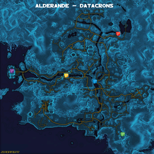 alderande map Star Wars: The Old Republic   Les Datacrons
