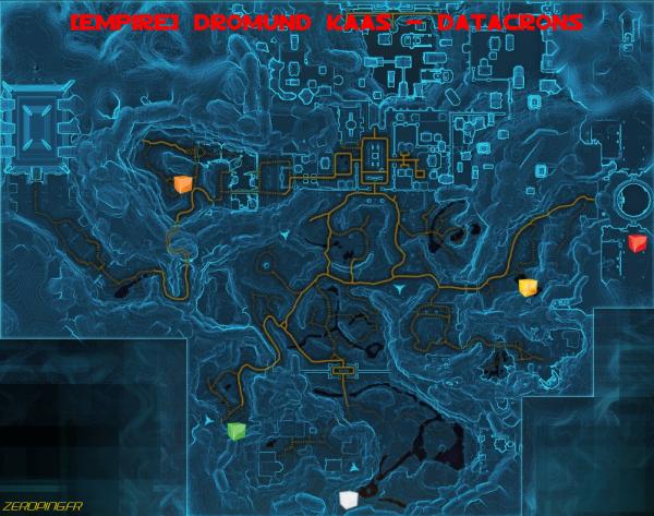 dromundkaas map Star Wars: The Old Republic   Les Datacrons