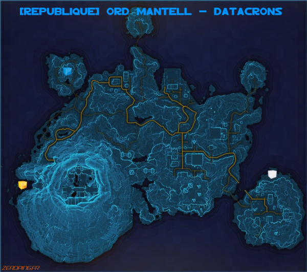 ordmantell map Star Wars: The Old Republic   Les Datacrons