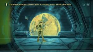 Le héro possède un Echo Eye permettant d'analyser les objets autour de lui.